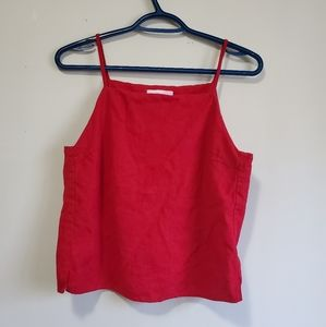Oak + Fort Red Cropped Tank
